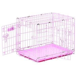 Precision Pet 'ProValu,' Double Door Dog Crate Pink