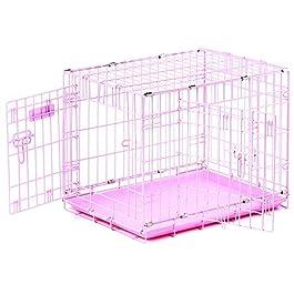 """PRECISION PET """"ProValu, Double Door Dog Crate Pink"""