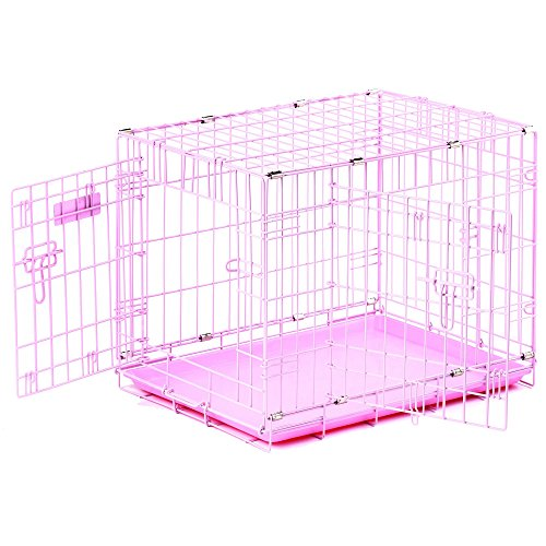 "Precision Pet ""ProValu,"" Double Door Dog Crate Pink"
