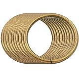 BIKICOCO 5 cm Hebillas de bucle redondo con conector de monedero con junta tórica de metal, sin...