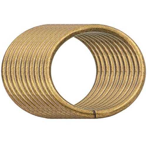 BIKICOCO 5 cm Hebillas de bucle redondo con conector de monedero con junta tórica de metal, sin soldar, para bolsos, collares, monederos y cordones, Bronce, 10 piezas