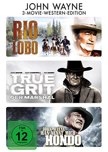 Rio Lobo / True Grit - Der Marshal / Man nennt mich Hondo [3 DVDs]