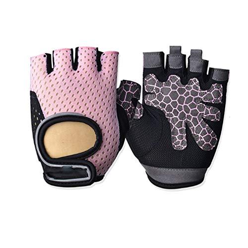 Zum Schutz Ihrer Hände und Warmhalten Half Finger Gym Biking Fahrradhandschuh Rock Mountain Fahrrad-Handschuhe Vakuummetallisieren Out for Männer und Frauen, 1pair (Color : Pink, Size : XL)