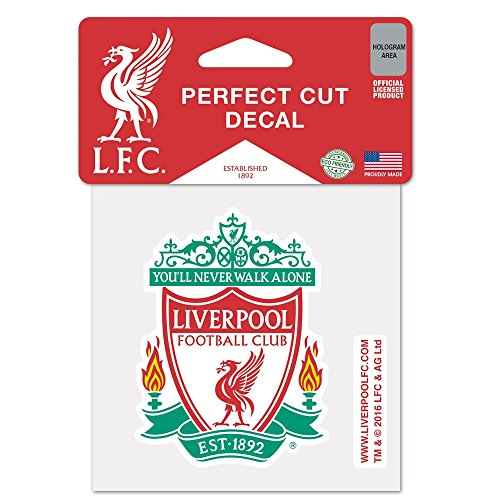 WinCraft MLS Liverpool FC 4x4 Perfect Cut Color Decal, One Size, Team Color