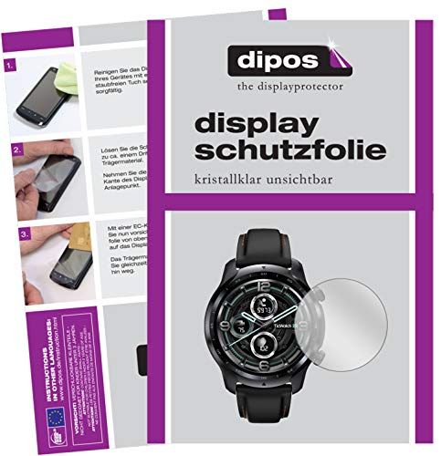 dipos I 6X Schutzfolie klar kompatibel mit Mobvoi TicWatch Pro 3 (47mm) Folie Bildschirmschutzfolie