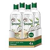 Timotei Champú Coco Y Aloe Vera - 4 Paquetes de 400 ml: Total: 1600 ml