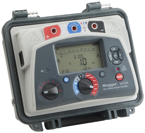 MIT525-US Insulation Tester with Output, 10 T Ohm Resistance, 5kV Multi-Range Test Voltage with a NIST-Traceable Calibration Certificate with Data