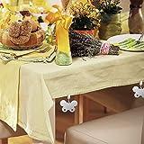 INTVN 8er Set Tischdeckenbeschwerer, Tischtuchbommeln zum Beschweren, Blume, In-& Outdoor, Edelstahl, Silber, 8 Stück - 5