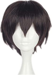 NiceLisa Unisex Short Brown Boy Male Teens Anime Fans Comic Exposition Festival Cosplay Party Wigs