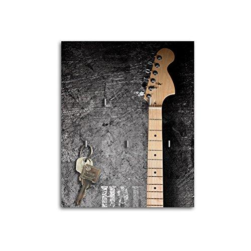 Dalinda Schlüsselbrett mit Design Gitarre Schlüsselboard Schlüsselhaken SB688