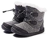 BMCiTYBM Baby Snow Boots Boys Girls Winter Infant Shoes Anti-Slip 6 9 12 18 24 Months Faux Fur Black Size 12-18 Months Toddler