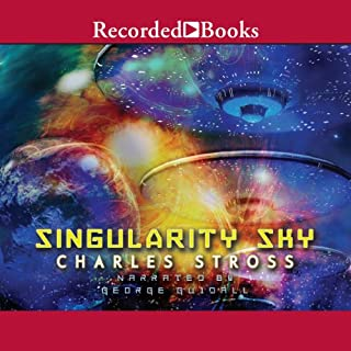 Singularity Sky audiobook cover art