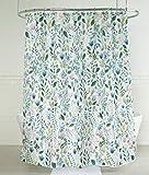 Splash Home SIA - Cortina de Ducha de Tela de poliéster con diseño Floral, 180 x 183 cm, Multicolor y Verde, 100 % Pulgadas