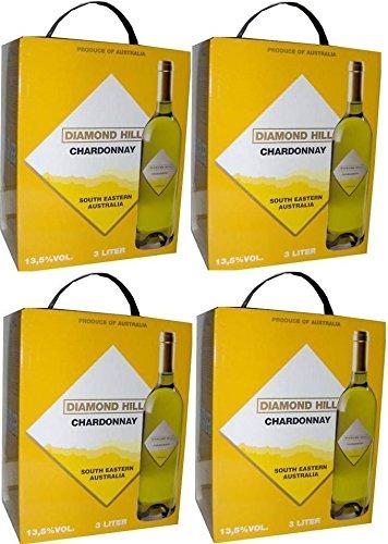4 x DIAMOND HILL CHARDONNAY Bag in Box 3 LITER 13,5%