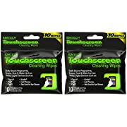 Kimberly-Clark Kimtech Touchscreen Cleaning Wipes, 10-Count Wipes, Pack of 2  (Total of 20 Wipes)