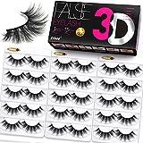 Eliace Lashes False Eyelashes Wispies 15 Pairs Mink Eyelashes 3D Faux Full Fluffy Volume Lashes Natural Look & Cat Eye Lashes Pack & Professional Fake Eyelashes Soft Band Reusable Lashes, Dubai Style