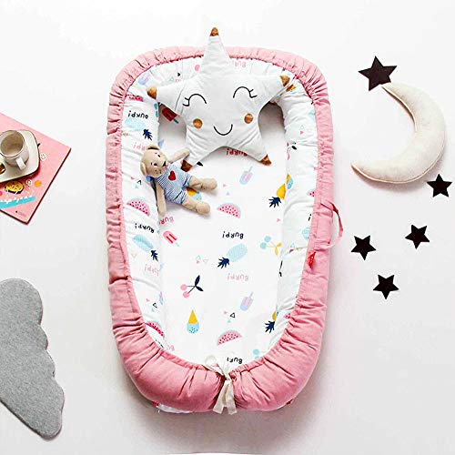 Great Price! Baby Nest for Newborn and Babies, Baby Pod Cocoon Double Sided, Baby Bassinet for Bed/L...