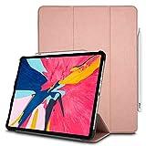 TECHGEAR Smart Coque pour iPad Pro 12.9 2020, [Compatible Apple Pencil] Coque Smart Case Stand...