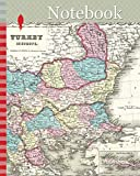 Notebook: 1855, Colton Map of Turkey in Europe, Macedonia, and the Balkans