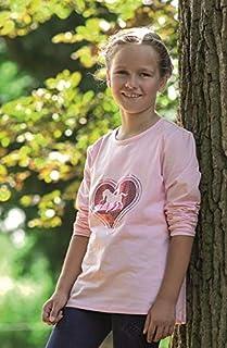 HKM 成人衬衫长袖-心形-皮草3800 粉红色98/104 裤子,3800 粉红色,98/104