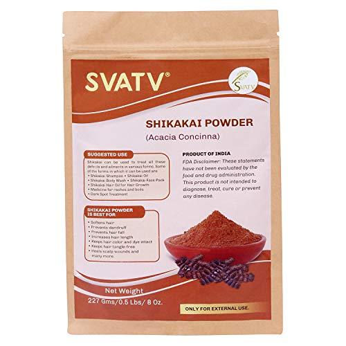 SVATV :: Shikakai Puder/Acacia Concinna (227g) - Reines natürliches Haarausfallwachstum Chemische SLS PPD-freie Seife Shampoo Tiefenreinigung Verdickungsglanz-Conditioner