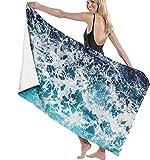 Toalla de Playa Las Toallas de baño Pacific Wave Son de Gran tamaño para Hombres y Mujeres, adecuadas para Nadar, Aguas Termales, Viajes, Yoga, Deportes, Acampar, Cubierta de hamacas para bañarse o
