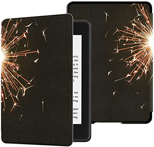 All-New Kindle Paperwhite Water-Safe Fabric Cover(10th Generation, 2018 Release),Bengal Fire New Year Sparkler Candle Tablet Case