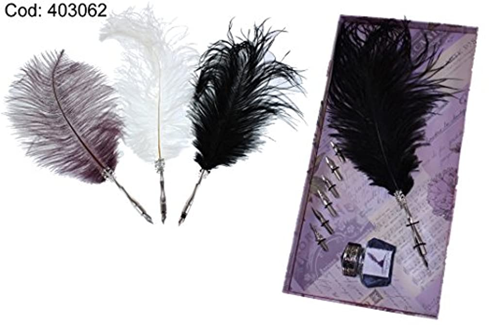 DOREX Feather, Metal, Brown, White or Black, One Size