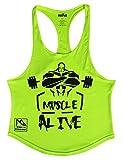 Alivebody Hombres Camisetas De Tirantes Deportivo Gimnasio Fitness Tops Camisetas T-Shirts Algodón
