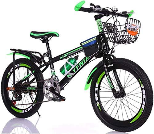 Bicicleta infantil de 20 pulgadas para hombre de 8 años y más (color: verde+paquete de regalo, tamaño: 20 pulgadas) JoinBuy.R
