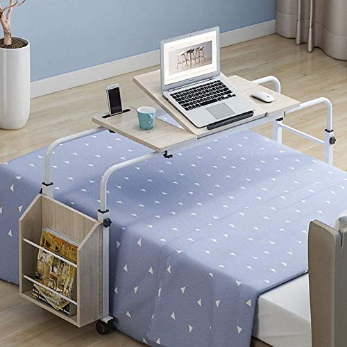 HIZLJJ Computadora de escritorio, PC portátil grande Tabla de estaciones de trabajo, de noche escritura escritorio de madera, equipo ajustable Escritorio moderno Mesa, Home Office Escritorio con estan