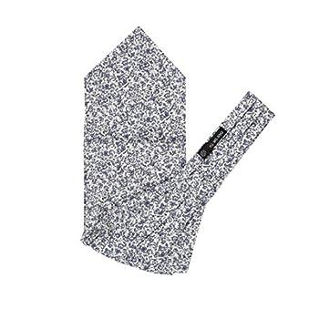 Floral Print Long-Self Ascot Necktie For Party Gray Long-Self Cravat Scarf 135-Cm-Long Tall-Plus-Size C.C.AQ.I.029 Dan Smith 100% Cotton Gray,Floralwhite