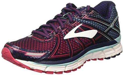 Brooks Women's Adrenaline Gts 17 Running Shoes, Blue (Limpet Shell/evening Blue/virtual Pink) - 4.5 UK