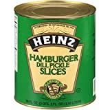Heinz Hamburger Cut Dill Pickles (6.9oz Cans, Pack of 6)