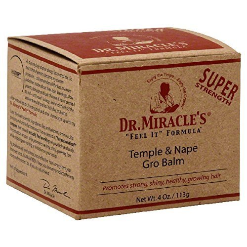 Dr. Miracle's Strengthen Temple and Nape Balm, 4 Ounce by Dr. Miracle's