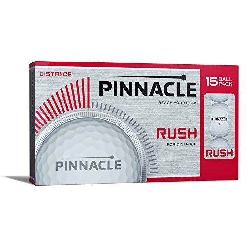Pinnacle Rush Golf Balls, White (15 Ball Pack)