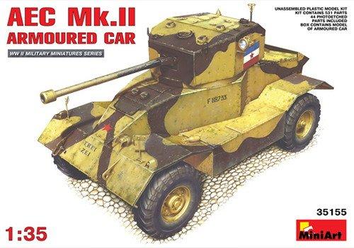 Miniart Modellsats i plast 1:35 skala AEC Mk.2 armerad bil