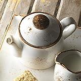 Steelite Bastelvereinen Teekanne weiß 15 Unzen/425 ml, rustikale Teekanne aus Keramik