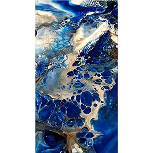 DIY pintura diamante 5D taladro completo kit cascada azul 90x180cm 36x72in,Diamond Painting grande Adultos/Niño Bordado punto de cruz Cristal Rhinestone Mosaico Cuadro manualidades Mural decor