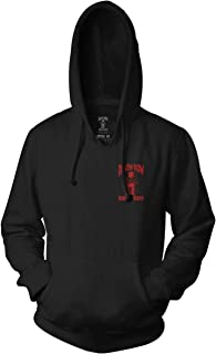 Death Row Records Adult Unisex Red Black Death Row Logo Pull Over Hoodie