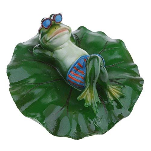 Inzopo 6 Type fidèle à la Nature Eau Flottante Ornement étang lys Feuille de Lotus Grenouille Jardin étang étang à Poissons été Piscine décor - couché, comme décrit