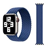 SOLO LOOP DESIGN: Full elastic band, No bulk, no buckle, no snagging and no scratching . With the strong strap it is super easy to take on and off your apple watch. The structure of 300D makes the strap soft and full of texture, and has anti-perspira...
