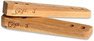 Rayne Longboards Bamboo Rail Riser 2, 3, 5, 7 Degree Set of 2 Risers,  Made from Recycled Bamboo