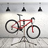 LONABR Adjustable Bike Repair Stand Foldable Bicycle Mechanics Stand Portable Bike Workstand for Home or Professional Team Use with Plate Tools Holder Support 60LBS