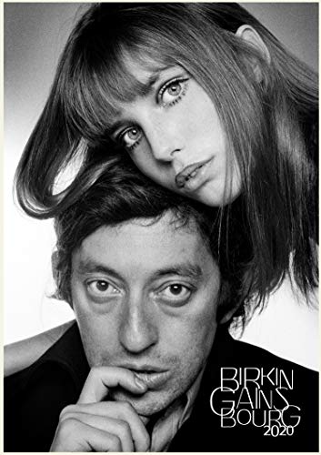 Calendrier mural 2020 [12 pages 20x30cm] Serge Gainsbourg and Jane Birkin Chanson Music Vintage Magazine Cover Photo Affiche French