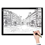 VIVOHOME A2 Ultra-Thin LED Light Box Board Tracing Light Pad with 3 Brightness for Diamond Painting Artist Sketching Drawing Craft