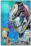 DINGDONG ART Imprimir En Lienzo 40x60cm Sin Marco Póster artístico de Lewis Hamilton y Cuadro artístico Impreso en la Pared, póster Moderno para decoración de habitación Familiar
