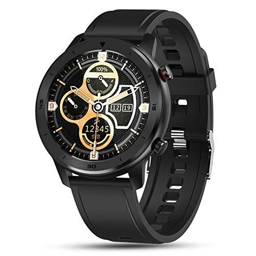 NUNGBE Reloj Inteligente, Reloj Inteligente para Hombres y Mujeres, Pulsera, rastreador de Actividad física, Monitor de frecuencia cardíaca Resistente al Agua para Dispositivos portátiles: Negro