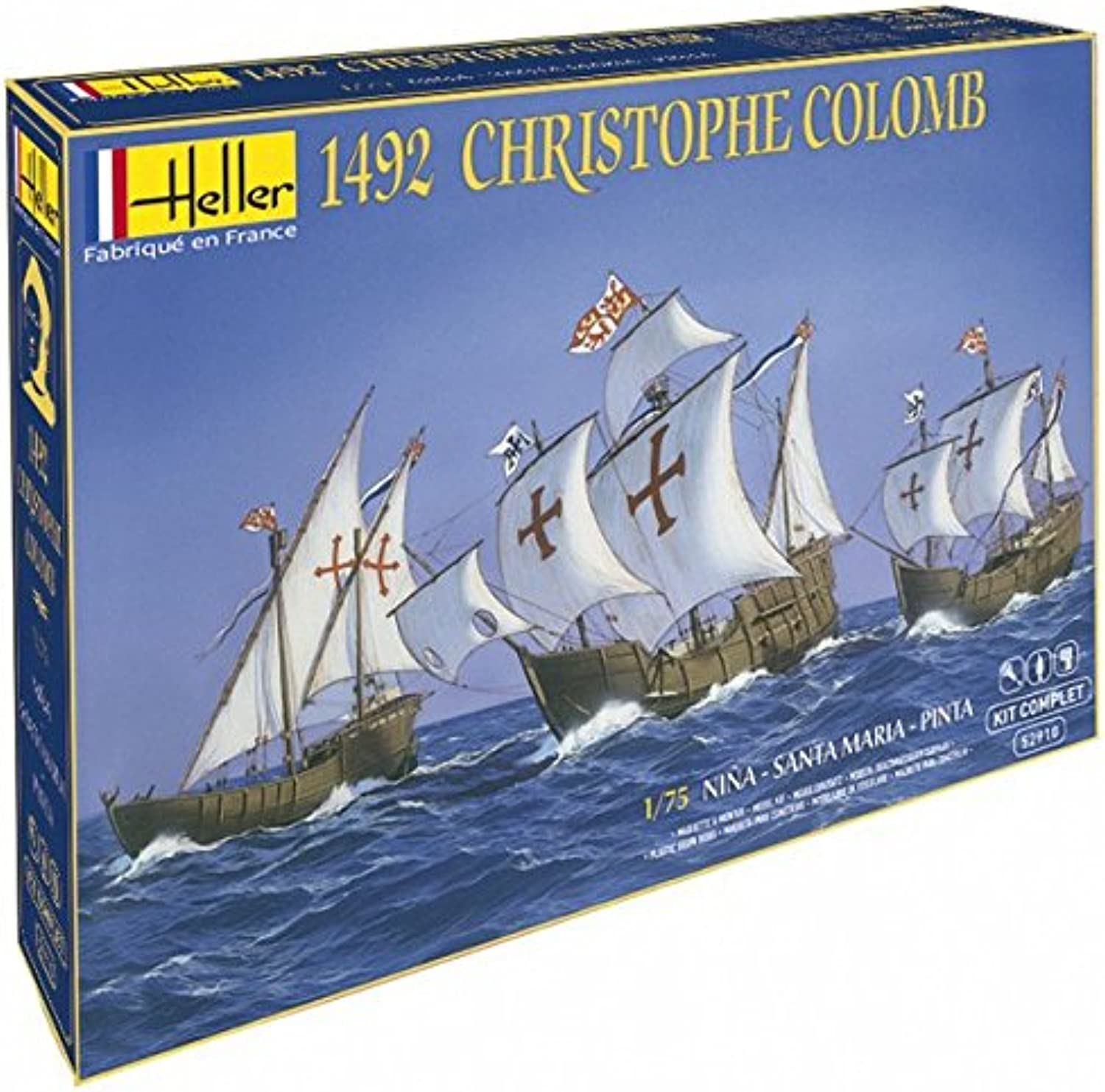 Heller 52910G Christopher Columbus Gift Set, 1 75 Scale