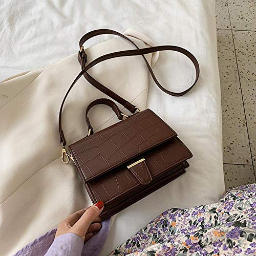 PANZZ Crossbody Bags Women Travel Summer Shoulder Sacs à Main, Café, Mini